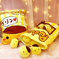 a bag of chicken pudding plush toys simulation snack pillow home decor creative kids toys gift for girlfriend/children very soft