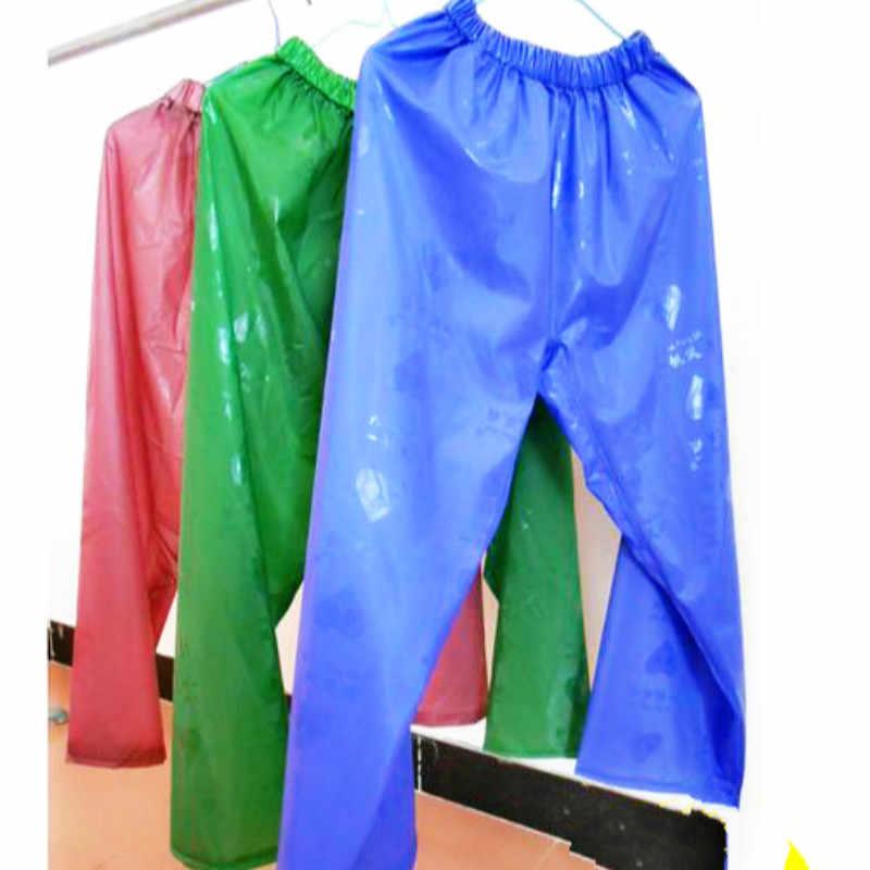 Impermeable Rubber Raincoat Adult Plastic Rain Pants Gear