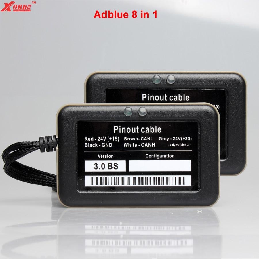 Prix pour Adblue Émulateur 8 en 1 avec Capteur NOX et USB Câble pour HOMME FORD BENZ IVECO VOLVO SCANIA DAF RENAULT Haute Qualité