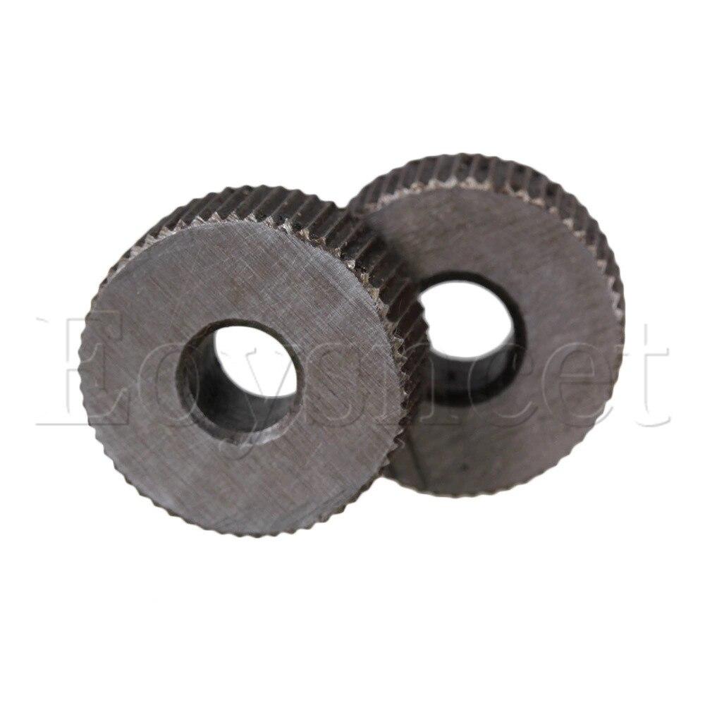 2x Silver 1mm Single Straight Coarse Linear Knurling Wheel For Metal Working
