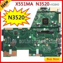 Kefu X551MA для ASUS X551MA Материнская плата ноутбука N3520U X551MA материнской 90NB0480-R00400 REV2.0 100% тестирование