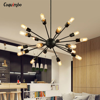 12 15 18 20 Heads Modern Chandeliers Lights Modern American Industrial Pendant Light Satellite Style Restaurant