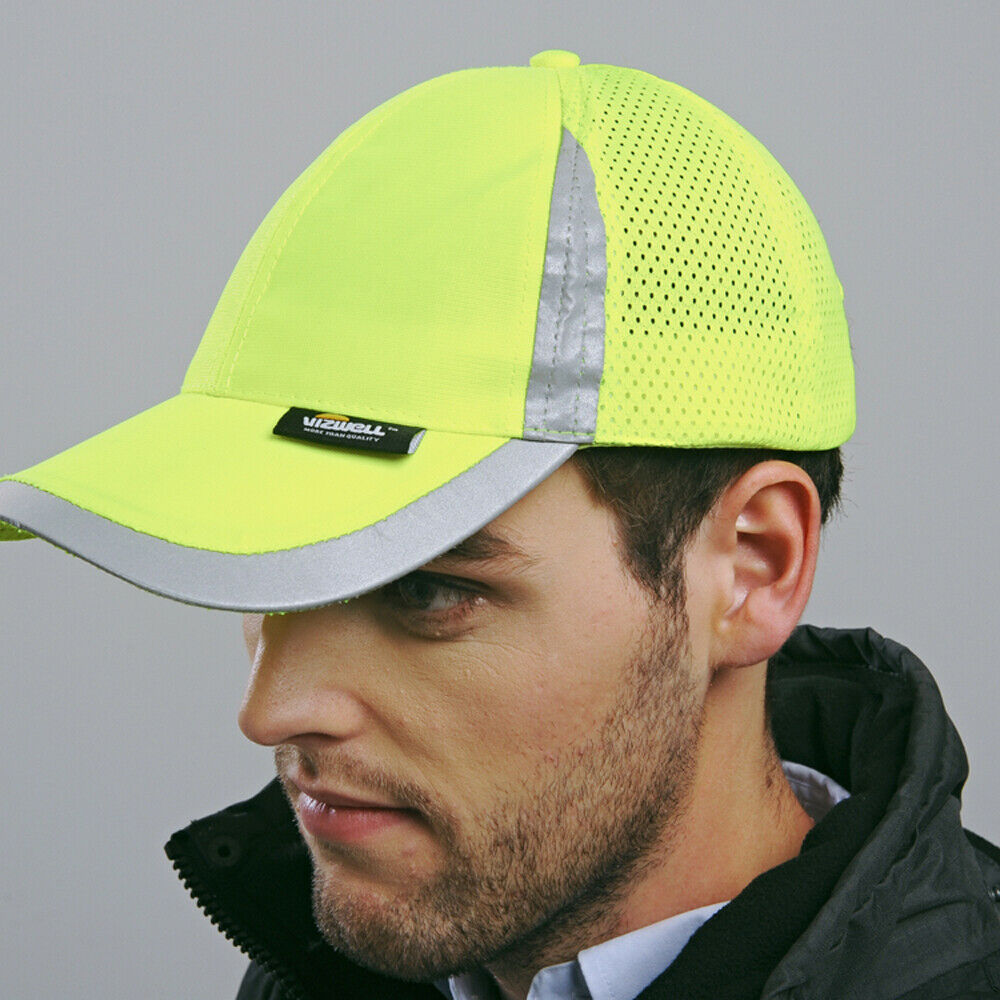 Outdoor Cap Reflective Baseball Hat Structured Safety Orange or Yellow