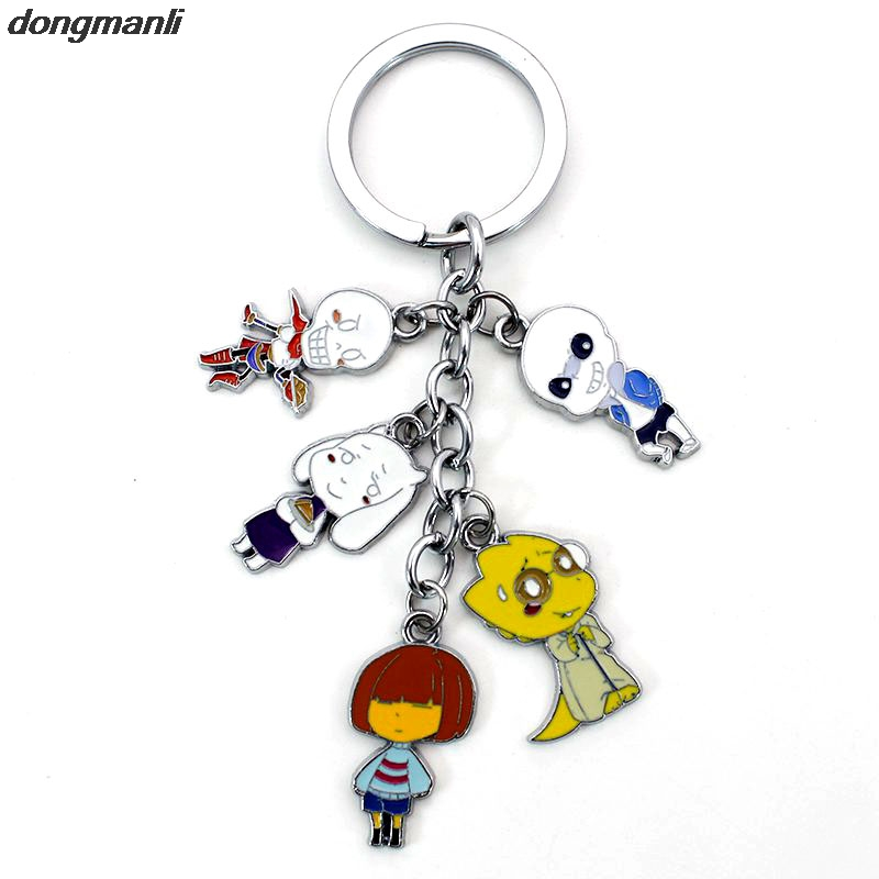 F220 Undertale Animals Games Five pcs Cosplay Figures Charms Key Chains Phone Strap Trinkets Accessories Car Keychain