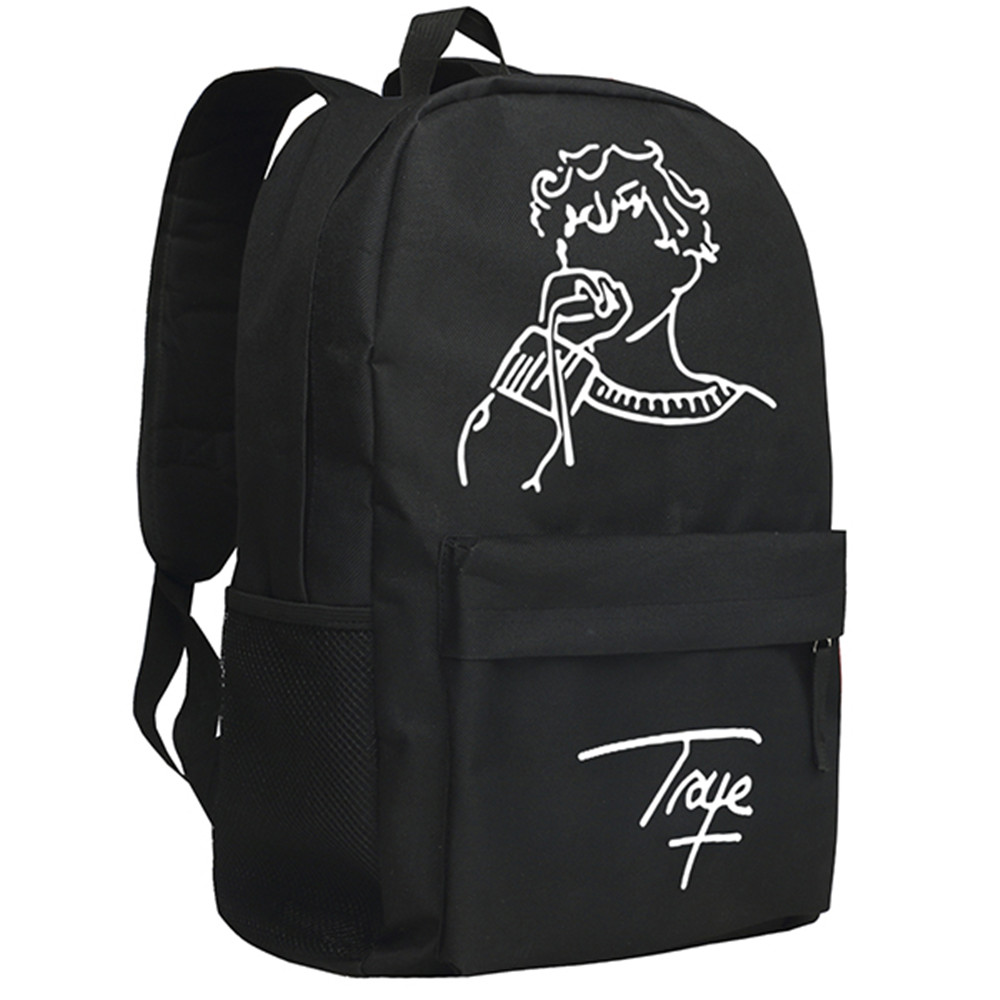 Singer Actor Troye Sivan Backpack Khaki Color School Bag for Children Bookbag the plural actor