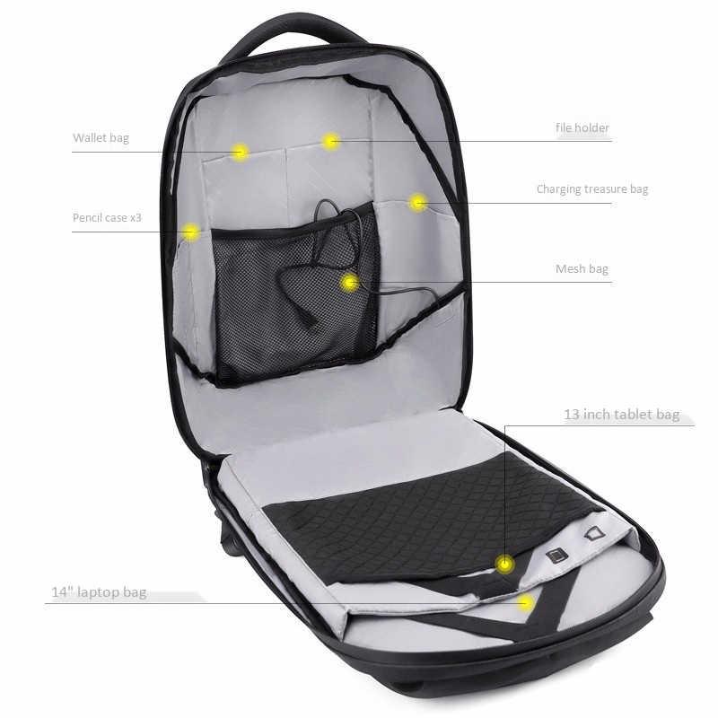 Nowy-Dc 5V Led dynamiczny wyświetlacz Wifi plecak na laptopa Notebook kontroli 22L torba szkolna wodoodporna Led plecak torba dla reklamy