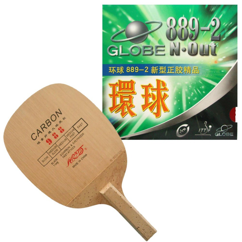 Pro Table Tennis (PingPong) Combo Racket: Galaxy 988 (Japanese Penhold) with Globe 889-2 2015 The new listing dhs tg 506 tg506 tg 506 7 ply off table tennis pingpong blade 2015 the new listing factory direct selling