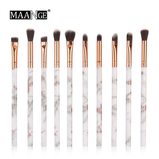 MAANGE cepillo 7/10 piezas multifuncional maquillaje pincel corrector de sombra de ojos cepillo Mini herramienta de maquillaje