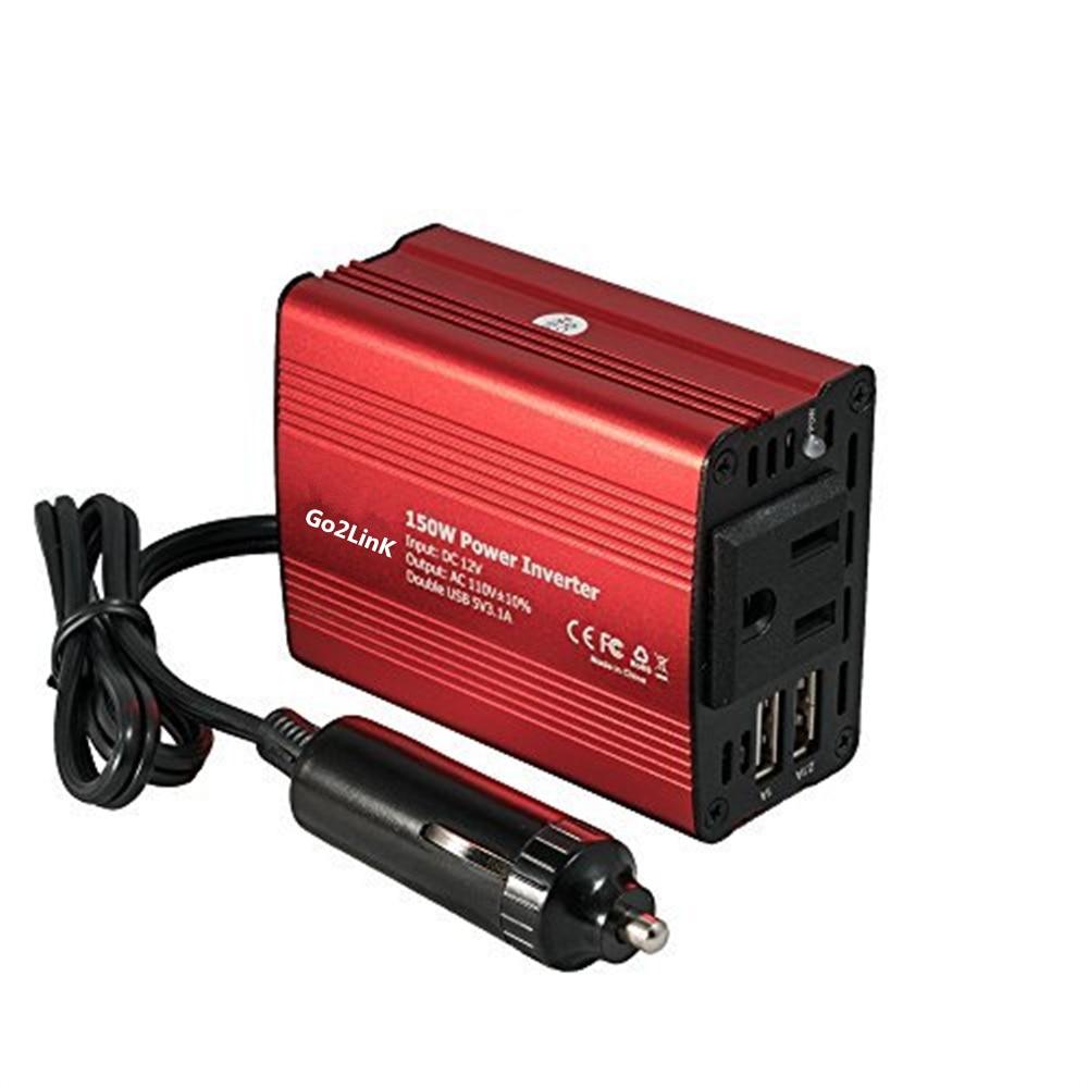 Go2linK 2017 Newest Car Power Inverter 12v 220v 220W Carregador Veicular USB Auto Charger Convertisseur 12v 220v Converter Volt