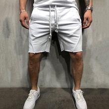 Стиль Модные популярные мужские однотонные повседневные летние шорты с карманами для бега средней длины баскетбольные шорты