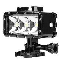 SHOOT Waterproof LED Diving Light For Gopro Hero 5 3 4 Session H9 SJCAM SJ4000 Snorkel
