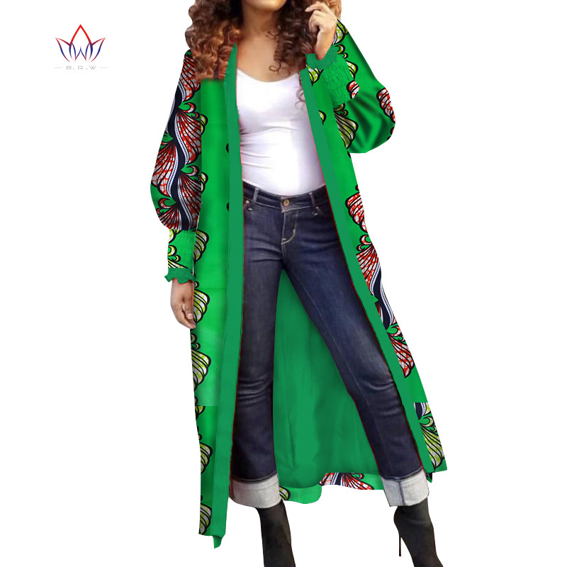 2019 outerwear Summer African   trench   coat for women plus size Dashiki Africa Traditional Clothing casual cotton WY4730
