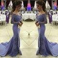 Kaftan Dubai Vestidos Do Baile De Finalistas Da Sereia Vestido de Noite Side Slit Decote Em V Manga Longa Vestidos de Baile Vestido De Noche