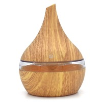 Electric Aroma Diffuser Wood 300ml Ultrasonic Humidifier USB Essential Oil Aromatherapy Air Diffuser 7Color LED Light