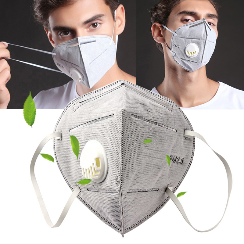 10 Pcs Disposable Activated Carbon Mouth Face Mask Breathable Dustproof PM2.5 PO66