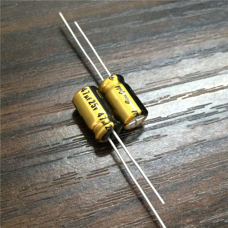 10pcs 47uF 25V NICHICON FG (Fine Gold) 6.3x11mm 25V47uF High Grade Audio Capacitor