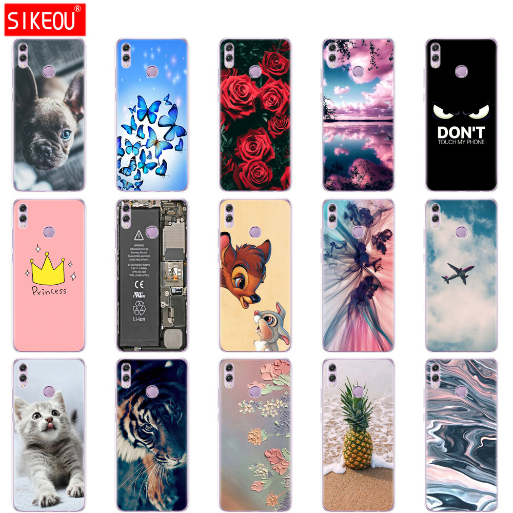case for <font><b>huawei</b></font> <font><b>honor</b></font> <font><b>8x</b></font> Case cover 6.5 inch Silicon Soft TPU bumper on for <font><b>huawei</b></font> <font><b>honor</b></font> <font><b>8x</b></font> copa Coque bags shockproof cute cat image