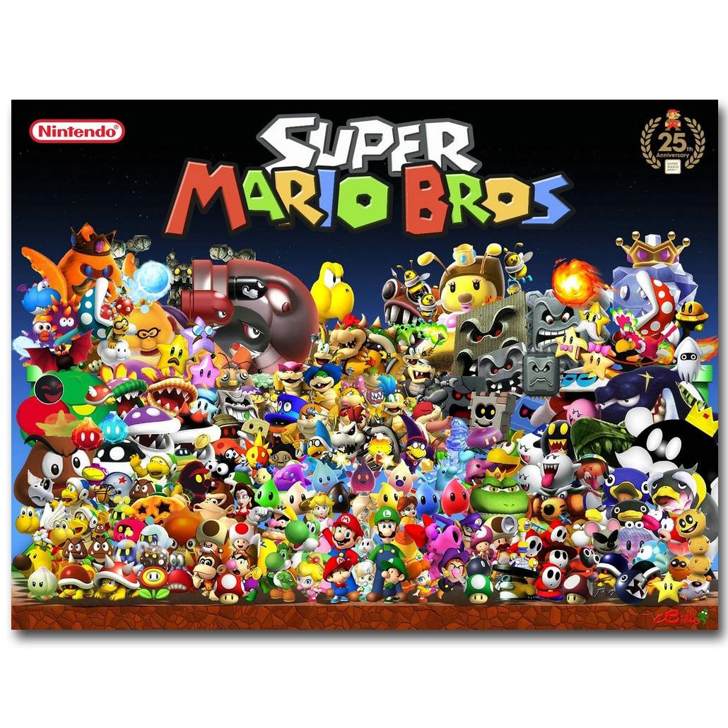 Aliexpress.com : Buy Super Mario Bros Art Silk Fabric
