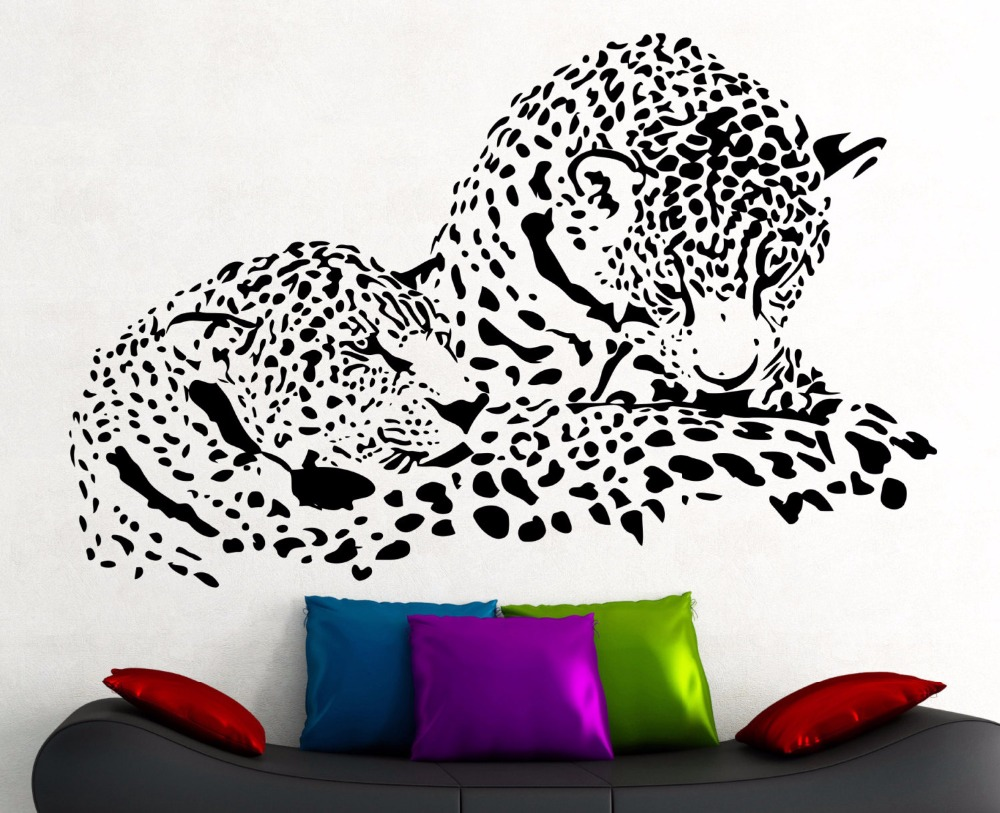 Buy leopard stickers for wall and get free shipping on AliExpress.com