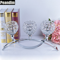 PEANDIM Religious Activities Decorations 3 Candles Centerpieces Crystals Votive Candle Holders