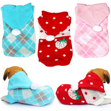 Dog-Sweater Jumper Puppy-Shirt Pug-Coat Dogs Knitting Small for Hoodies Warm 35