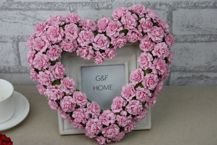 Artificial Paper Rose Flower Door Wreaths Heart Shaped Wedding Door  Decoration New Wedding Car Decoration With Flowers Roses