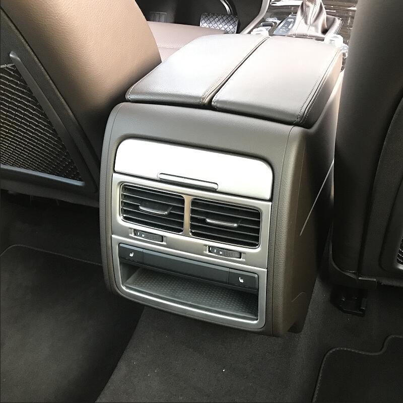 For VW Volkswagen 2011 2012 2013 2018 Touareg Rear Armrest Box Cigarette Lighter Panel Cover Trim