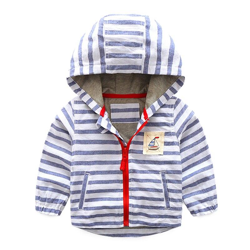 Mudkingdom/Обувь для мальчиков полосатые куртка Дети Осень на молнии толстовки с капюшоном эластичные манжеты Пальто для будущих мам верхняя од...