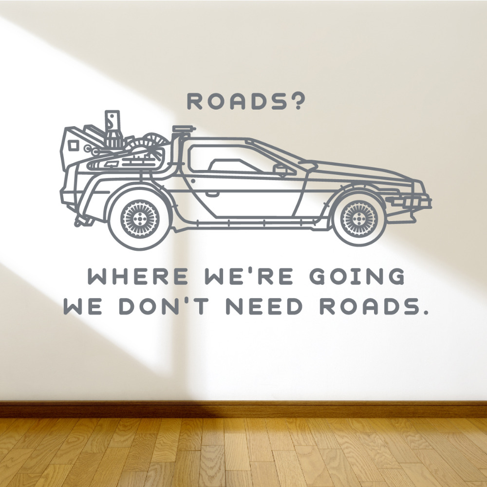 removable car quote wall decals sticker living room wall. Black Bedroom Furniture Sets. Home Design Ideas