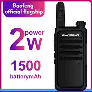 Image 1 - Walkie Talkie baofeng bf r5 niños mini radio de dos vías de radio uhf portátil 2 W juguete comunicador BF R5 Radio FM HF transceptor jamón cb