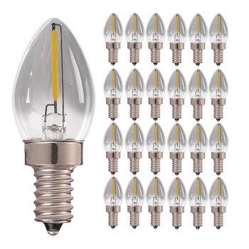 Лампа из дымового стекла E14 светодиодная лампа в форме свечи C7 0,5 Вт (лампа накаливания 8 Вт) Лампа накаливания с регулируемой яркостью 4000 к ла...