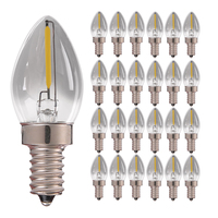 Smoke Glass Lamp E14 LED Candle Bulb C7 0.5W (8W Incandescent Lamp) Dimmable Daylight 4000K Filament Candelabra Lamp 25PCS 50PCS