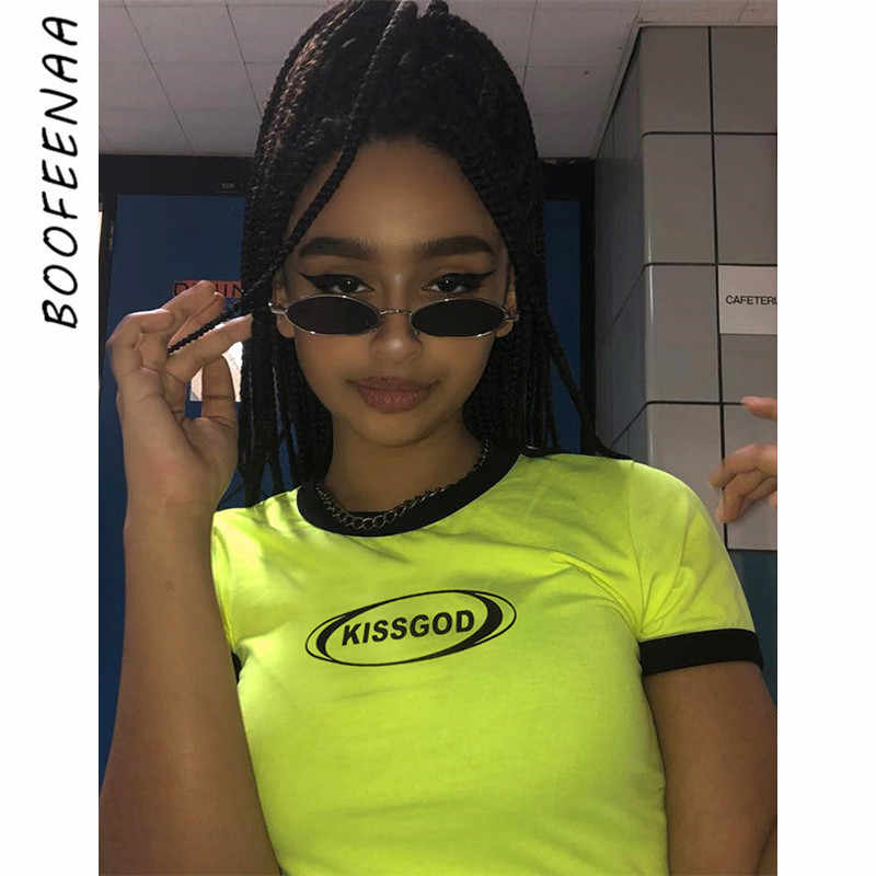 b0f2089ad ... Streetwear Vintage Casual Oversized. RELATED PRODUCTS. BOOFEENAA Letter Print  Lime Green Crop Top Short Sleeve T Shirt Sexy Summer Clothes for Women