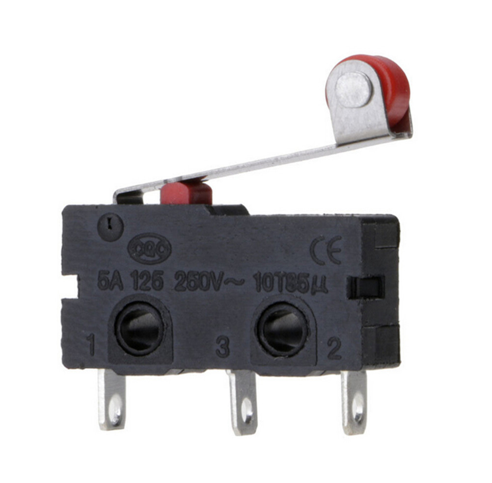 5pcs/set Limit Switch Micro Roller Lever Arm Open Close Kw12-3 Pcb Microswitch Tool Parts 2cm 0.5cm Attractive Fashion 1cm