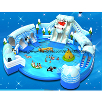 Outdoor Giant Inflatable Water Park with Pool for Kids and Adults