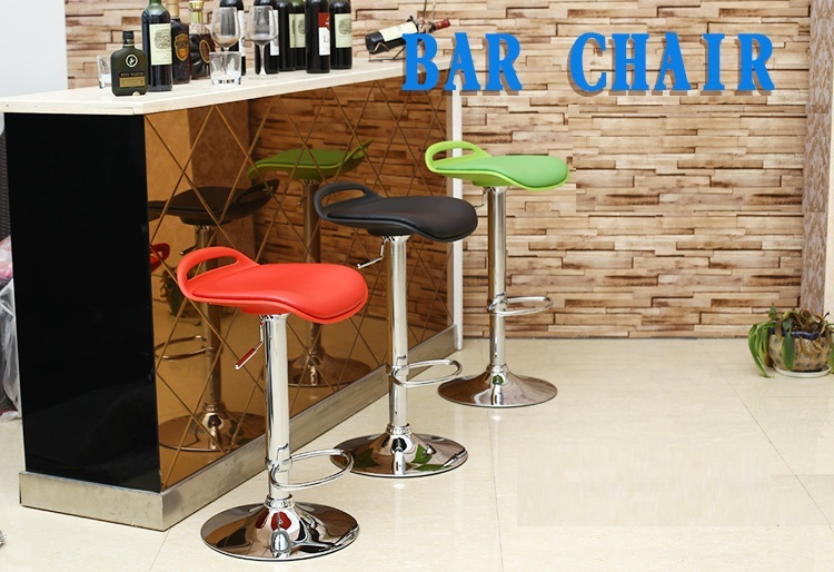 fashion bar stool lift white orange coffee house chair free shipping