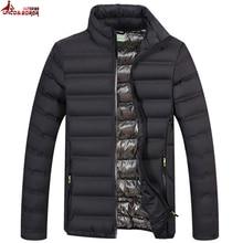 UNCO & BOROR primavera otoño hombres luz algodón acolchado parka abrigo invierno chaqueta militar Outwear Windbreak Bombardero chaquetas