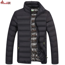 UNCO&BOROR spring autumn light cotton padded parka coat winter jacket men military Outwear Windbreak Bomber Jackets size M~4XL
