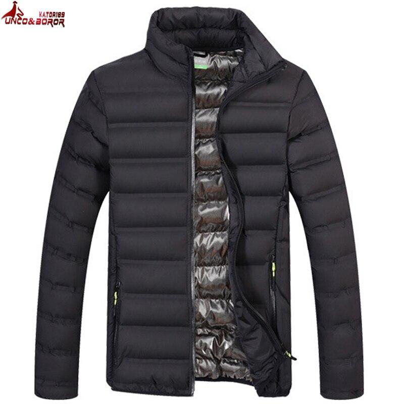 UNCO y BOROR de Primavera de otoño de los hombres de algodón chaqueta acolchada parka abrigo de invierno chaqueta hombres chaqueta militar prendas cortavientos hombre Bomber chaquetas