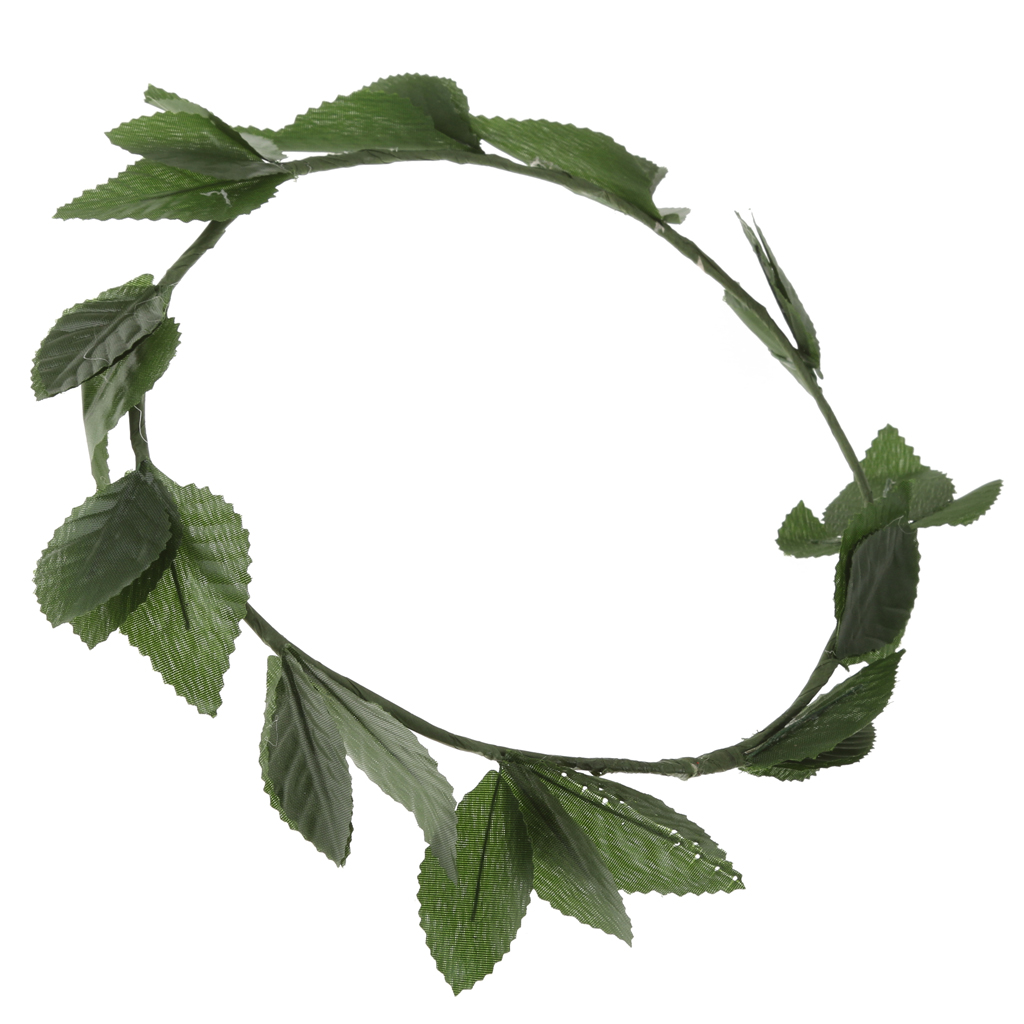 2019 New Unisex Roman Toga Laurel Bohemian Green Leaf Wreath Headband Adult Party Headpiece Fancy Party Dress Up Accessories