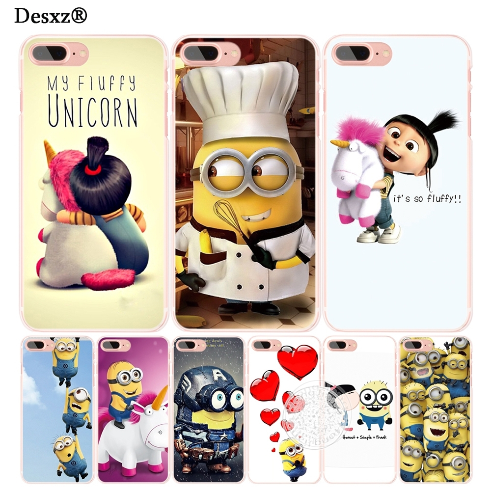 newest collection 657f4 3b83b Minion My Unicorn Agnes Christmas Cell Phone Cover Case For Iphone 4 4S 5  5S SE 5C 6 6S 7 8 X Plus