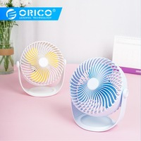 ORICO Portable Desktop Fan Mini USB Rechargeable Air Cooling Fan Adjustable USB Fan With 2000mAh Battery for Home Student Office
