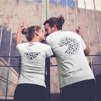 Pizza Couple T Shirts For Lovers 2018 Casual Matching Couple Clothes Summer Men And Women Valentine's Day Tops Tees