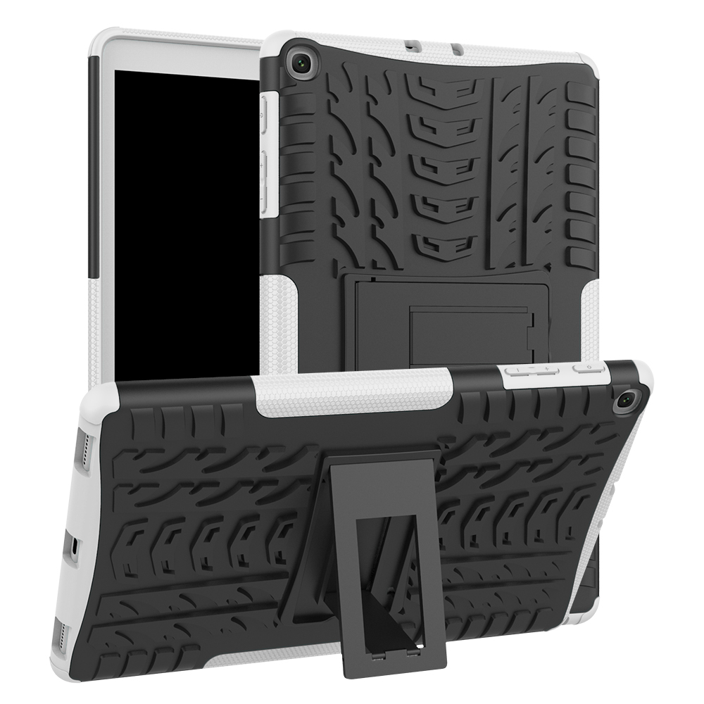 Hybrid Armor Silicone + hard Pc shell Cover For Samsung Galaxy Tab A 10.1 2019 <font><b>T510</b></font> T515 Stand shockproof Tablet Protective <font><b>Case</b></font> image