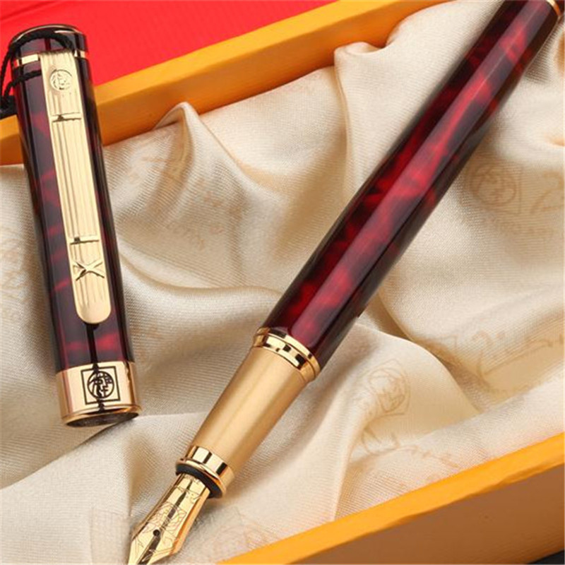 1pc/lot Picasso 902 Fountain Pen Red Pens Gold Clip Pimio Picasso 902 Pens Writing/Office Supplies Canetas Stationery 13.6*1.3cm parker 88 maroon lacquer gt fine point fountain pen