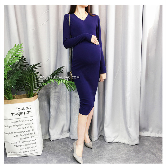 f8290e4af4 S-4XL Fashion Maternity Dress Spring Autumn Maternity Jersey Dresses Plus  Size Winter Pregnancy Clothes For Pregnant Women
