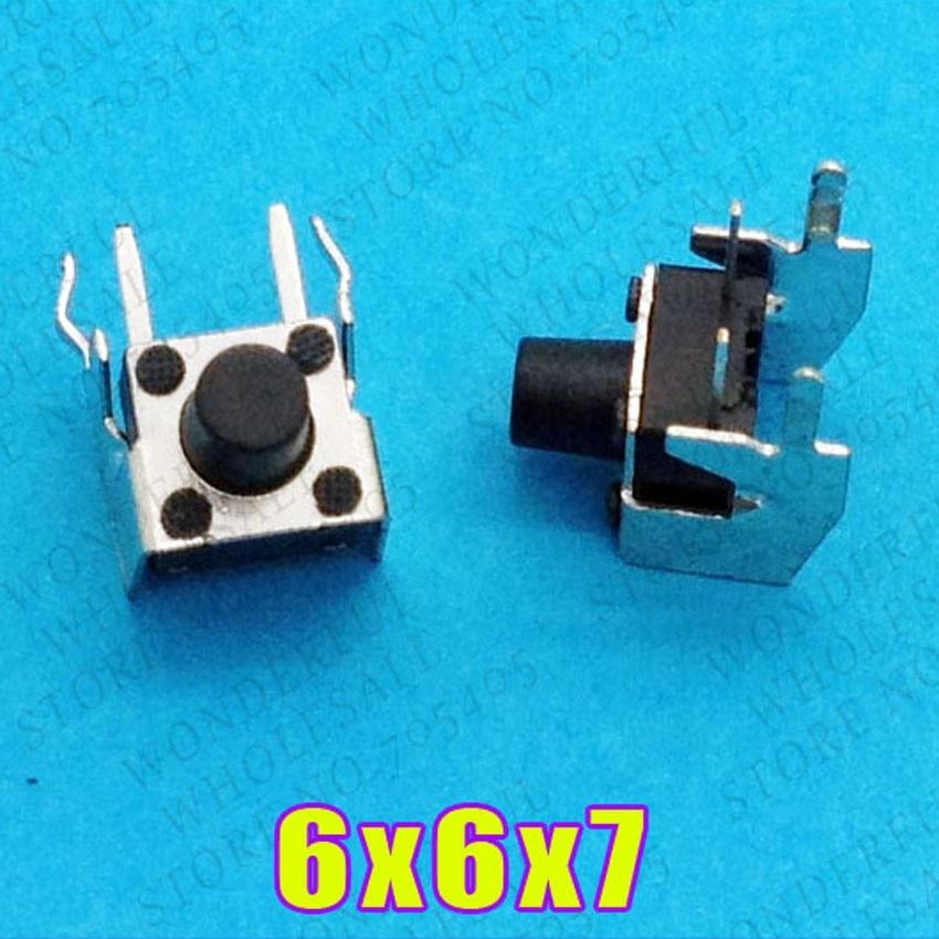 1 шт. 6X6X7 DIP Тактильные Такт Мини кнопочный переключатель Микро Переключатель мгновенный 6*6*7 мм