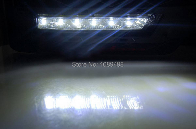 1 Set Car LED DRL daytime running lights fog driving lamps for Mercedes Benz W204 GLK300 350 500 2008-2012 стоимость