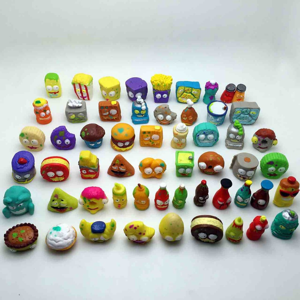 100Pcs/lot Popular Cartoon Anime Action Figures Toys HOT Garbage Moose The Grossery Gang Model Toy Dolls Kids Christmas Gift 6pcs set disney trolls dolls action figures toys popular anime cartoon the good luck trolls dolls pvc toys for children gift