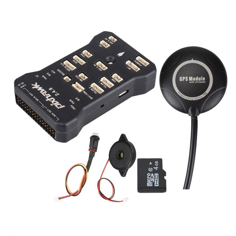 Pixhawk 2.4.8 PIX PX4 32 Bit Autopilot Flight Controller 7 mt GPS 7 mt w/4g SD Sicherheit schalter Summer + PPM + I2C für RC Drone Multirotor-in Teile & Zubehör aus Spielzeug und Hobbys bei  Gruppe 2